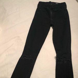 GAP Black Ripped Jeans